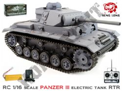 HL3848 Radio Control Panzerkampfwagen lll German Tank 1/16 Scale BB Shooting Model